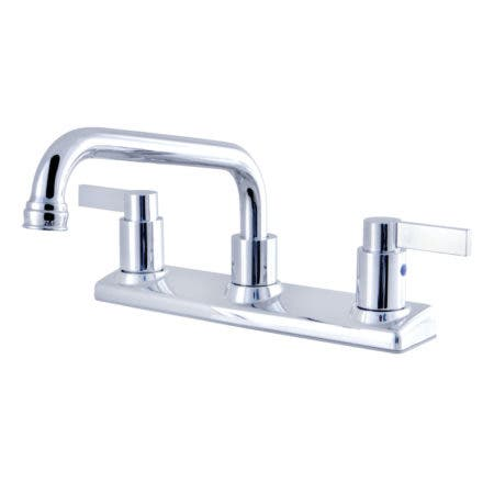 Kingston Brass FB2131NDL NuvoFusion 8-Inch Centerset Kitchen Faucet, Polished Chrome