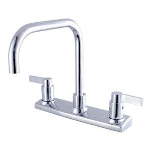 Kingston Brass FB2141NDL Nuvofusion 8-Inch Centerset Kitchen Faucet, Polished Chrome