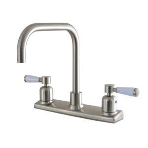 Kingston Brass FB2148DPL 8-Inch Centerset Kitchen Faucet, Brushed Nickel