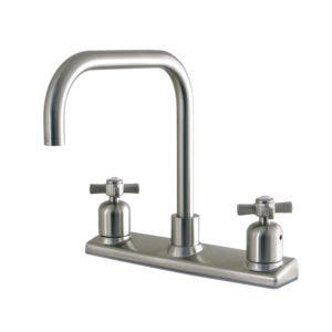 Kingston Brass FB2148ZX 8-Inch Centerset Kitchen Faucet, Brushed Nickel