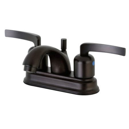 Kingston Brass FB2605EFL 4 in. Centerset Bathroom Faucet, Oil Rubbed Bronze