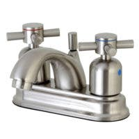 Kingston Brass FB2608DX Concord 4-Inch Centerset Lavatory Faucet with Retail Pop-Up, Satin Nickel