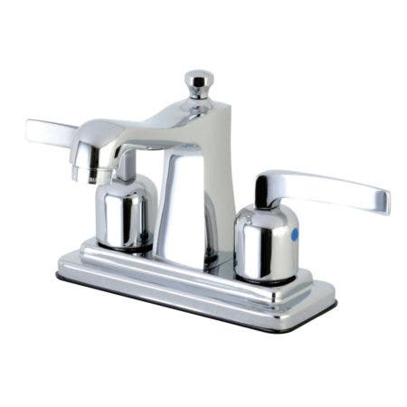 Kingston Brass FB4641EFL 4 in. Centerset Bathroom Faucet, Polished Chrome