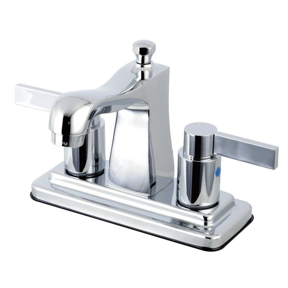 Kingston Brass FB4641NDL NuvoFusion 4-inch Centerset Lavatory Faucet, Chrome