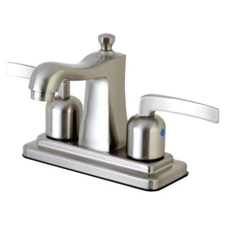 Kingston Brass FB4648EFL 4 in. Centerset Bathroom Faucet, Brushed Nickel
