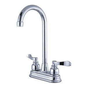 Kingston Brass FB491NFL 4-Inch Centerset High-Arch Bar Faucet, Polished Chrome