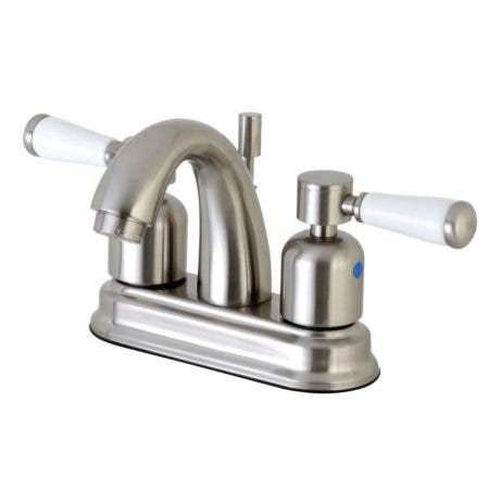 Kingston Brass FB5618DPL Paris 4-Inch Centerset Lavatory Faucet with Retail Pop-Up, Satin Nickel