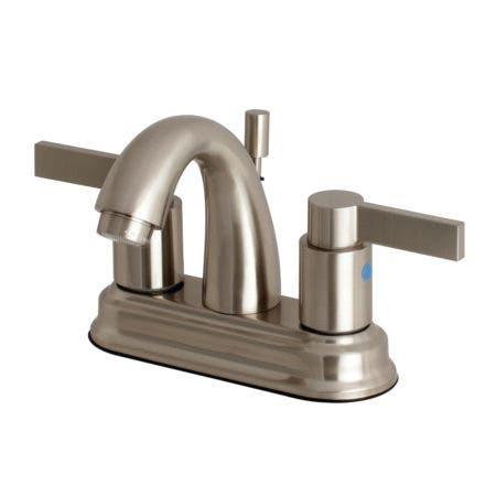 Kingston Brass FB5618NDL 4 in. Centerset Bathroom Faucet, Brushed Nickel