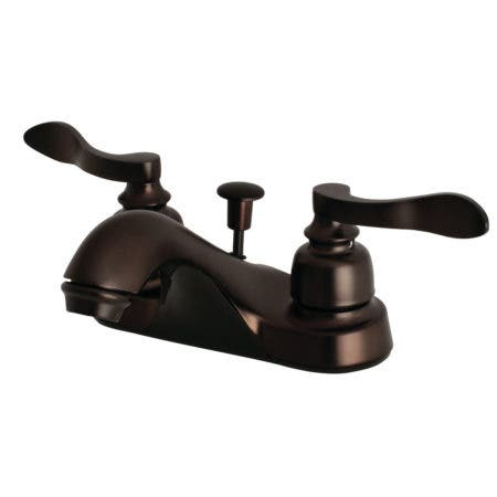 Kingston Brass FB5625NFL 4 in. Centerset Bathroom Faucet, Oil Rubbed Bronze