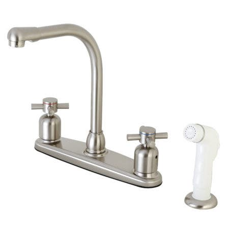 Kingston Brass FB718DX Centerset Kitchen Faucet, Brushed Nickel