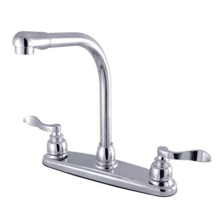 Kingston Brass FB751NFL NuWave French 8-Inch Centerset Kitchen Faucet with Sprayer, Polished Chrome