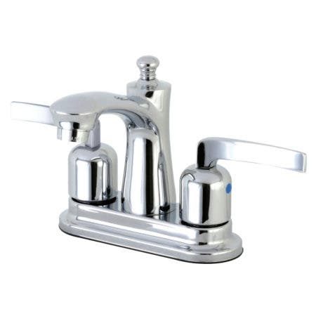 Kingston Brass FB7621EFL 4 in. Centerset Bathroom Faucet, Polished Chrome