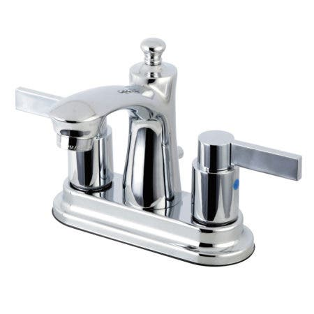 Kingston Brass FB7621NDL NuvoFusion 4-inch Centerset Lavatory Faucet, Chrome
