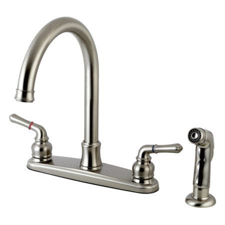 Kingston Brass FB7798NMLSP Naples 8-inch Centerset Kitchen Faucet, Satin Nickel