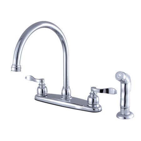 Kingston Brass FB791NFLSP NuWave French 8-Inch Centerset Kitchen Faucet with Sprayer, Polished Chrome