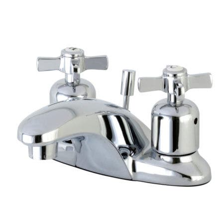 Kingston Brass FB8621ZX Millennium 4-Inch Centerset Lavatory Faucet with Retail Pop-Up, Polished Chrome