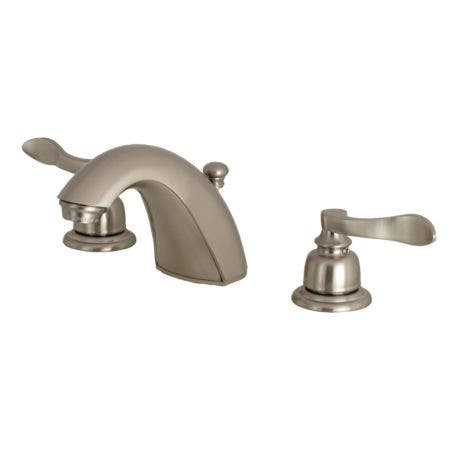 Kingston Brass FB8958NFL Mini-Widespread Bathroom Faucet, Brushed Nickel