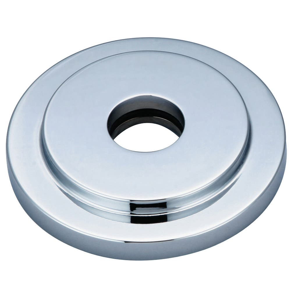 Kingston Brass FLEURO1 Heavy Duty Round Solid Cast Brass Shower Flange, Polished Chrome