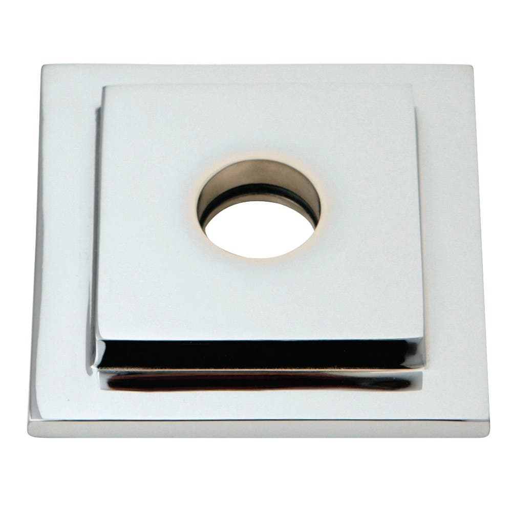 Kingston Brass FLSQUARE1 Heavy Duty Square Solid Cast Brass Shower Flange, Polished Chrome
