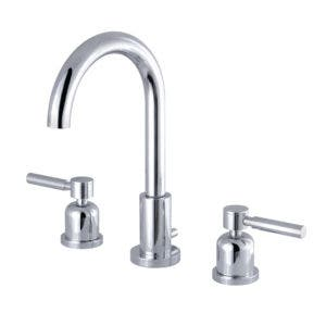 Fauceture FSC8921DL 8-Inch Widespread Lavatory Faucet with Brass Pop-Up, Polished Chrome