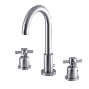 Fauceture FSC8928DX 8-Inch Widespread Lavatory Faucet with Brass Pop-Up, Brushed Nickel