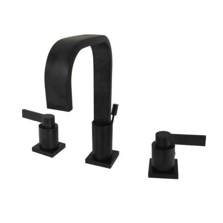 Fauceture FSC8960NDL NuvoFusion Widespread Bathroom Faucet, Matte Black