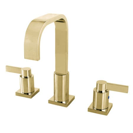 Fauceture FSC8962NDL NuvoFusion Widespread Bathroom Faucet, Polished Brass
