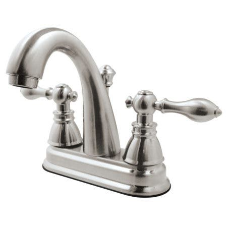 "Fauceture FSY5618ACL American Classic Two Handle 4"" Centerset Lavatory Faucet, Satin Nickel"