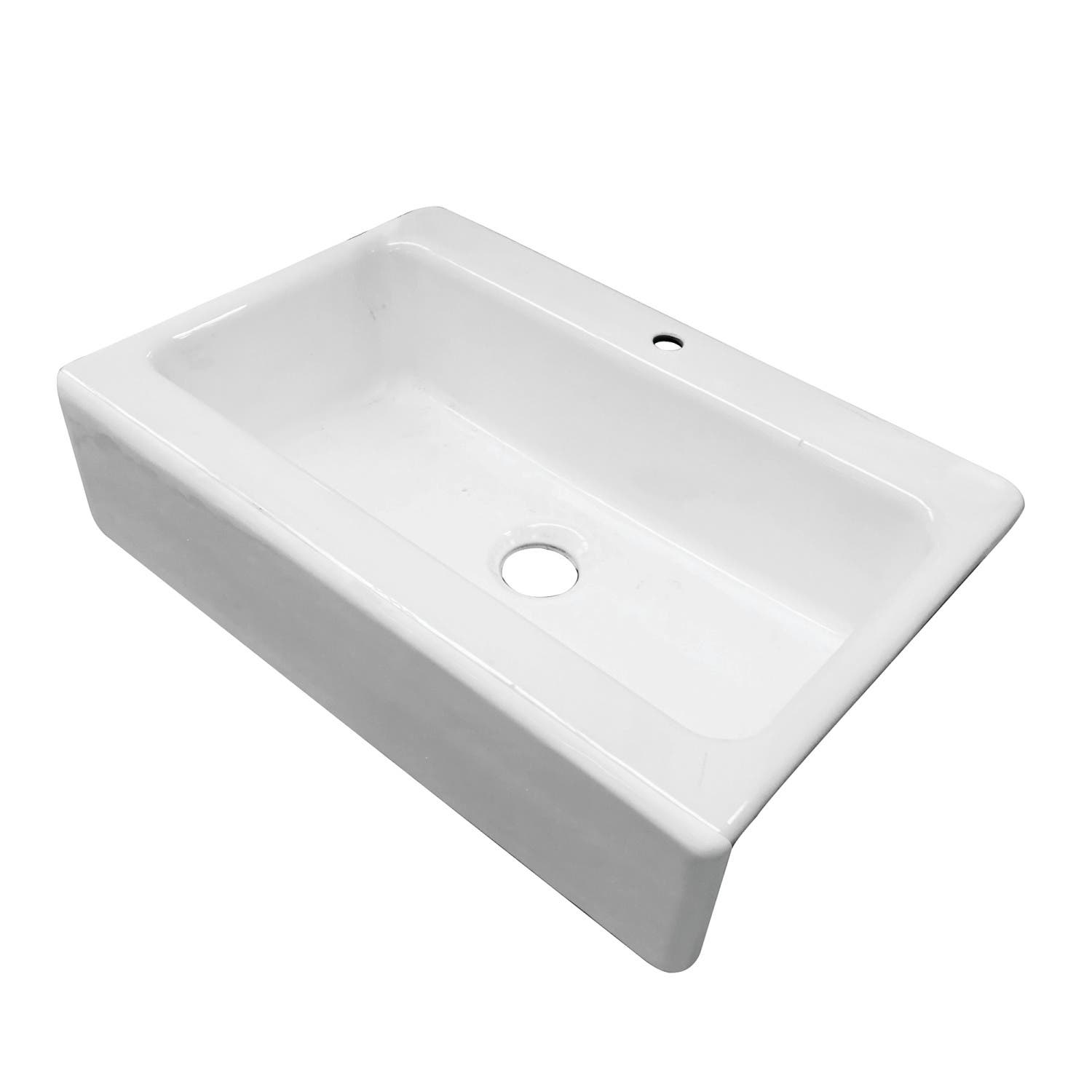 Gourmetier Gckfs33229 33x22 Single Bowl Top Mount Drop In A Front Farmhouse Sink White