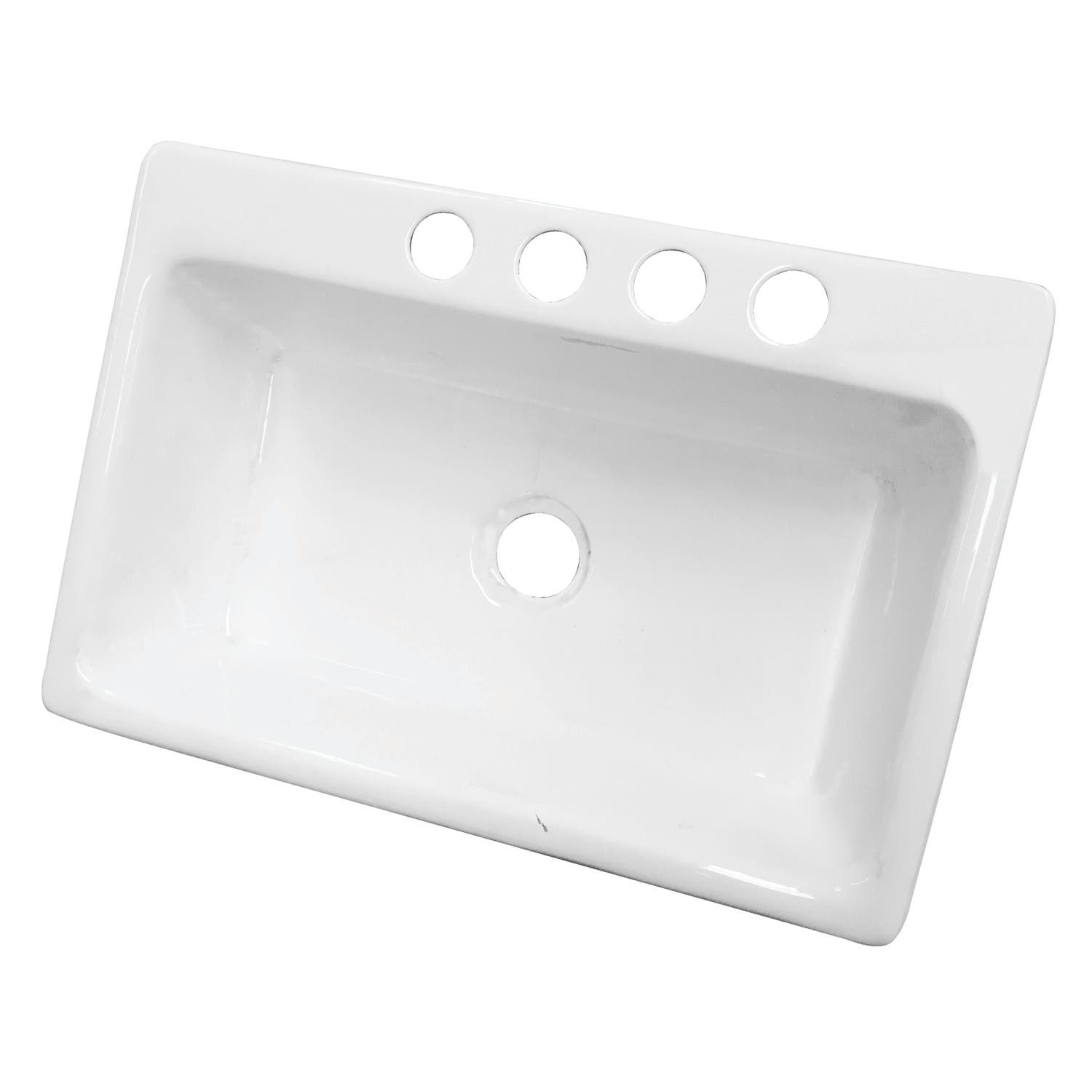 White Undermount Kitchen Sink Single Bowl