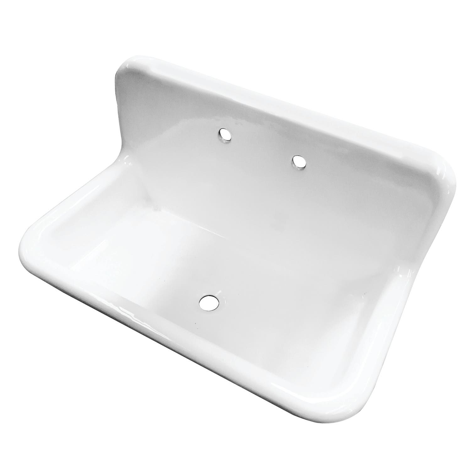 Gourmetier GCLWS362019 Wall Mounted Utility Sink, White