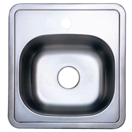 Gourmetier GKTS15151 Self-Rimming Single Bowl Kitchen Sink, Brushed