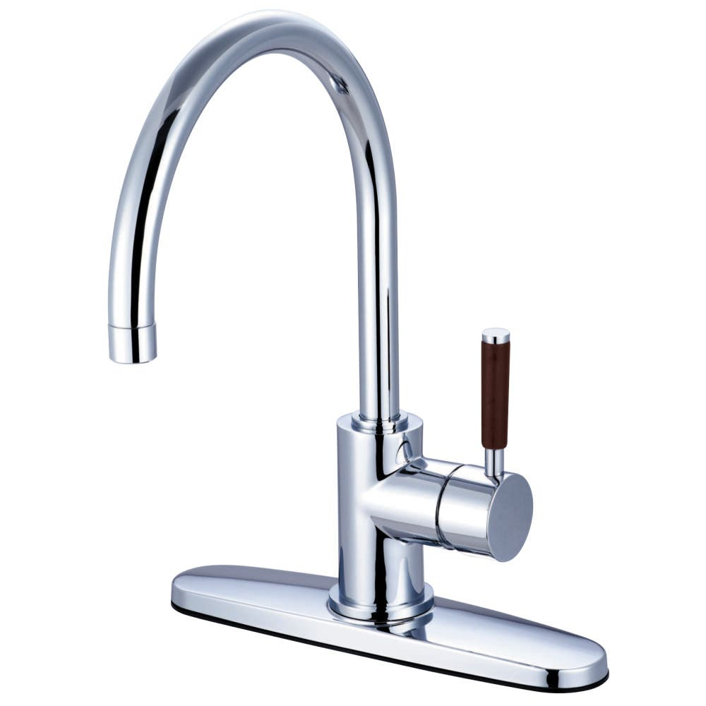 Kingston Brass KB3752AL Restoration 8 inch center two handle kitchen faucet with side sprayer