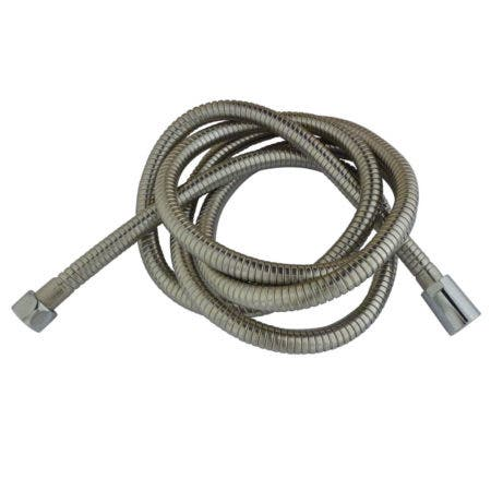 """Kingston Brass H696CRI Complement 63-78"""" Double Spiral Stainless Steel Hose, Stainless Steel"""