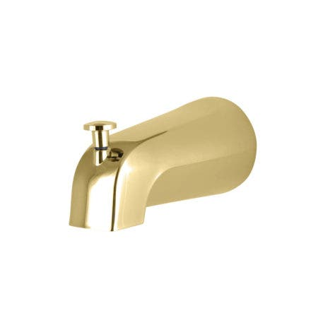 Kingston K1213A2 Rear Threaded Tub Spout with Top Diverter, Polished Brass