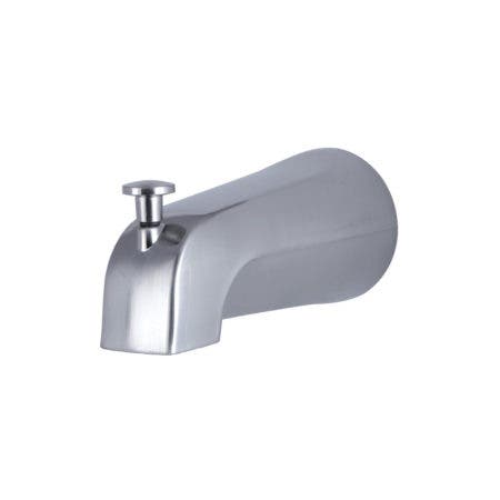 Kingston Brass K1213A8 Rear Threaded Tub Spout with Top Diverter, Brushed Nickel