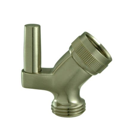 Kingston Brass K179A8 Trimscape Hand Shower Pin Wall Hook with Hose Outlet, Brushed Nickel