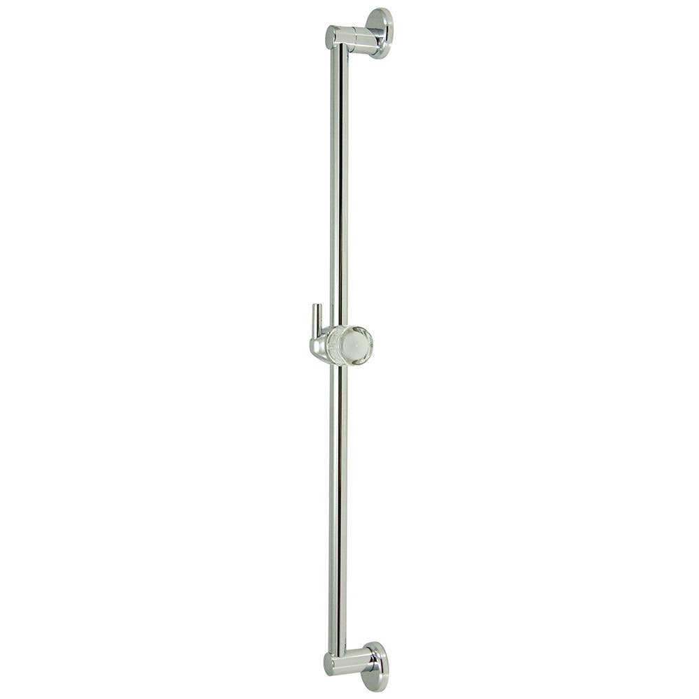 """Kingston Brass K180A1 Made to Match 24"""" Shower Slide Bar With Pin Wall Hook, Polished Chrome"""
