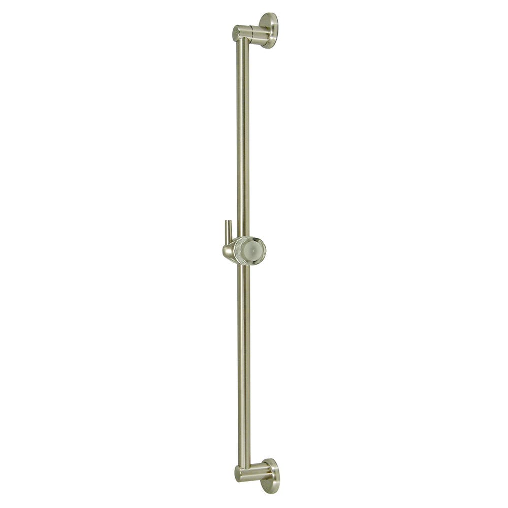 """Kingston Brass K180A8 24"""" Shower Slide Bar With Pin Wall Hook, Brushed Nickel"""