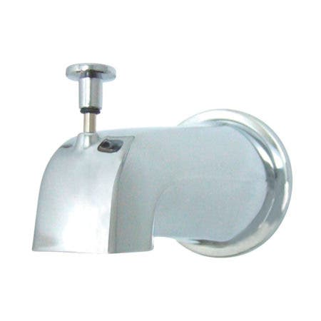 """Kingston Brass K188E1 Made To Match Diverter Tub Spout With Flange 1/2"""" IPS, Polished Chrome"""