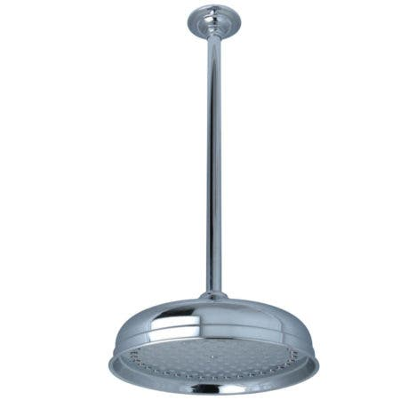 """Kingston Brass K225K21 Trimscape 10"""" Shower Head With 17"""" Ceiling Mounted Shower Arm, Polished Chrome"""