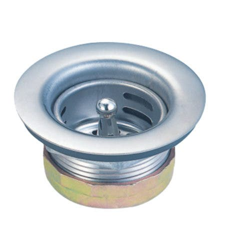 Gourmet Scape K461 Stainless Steel Bar Sink Duo Basket Strainer, Brushed