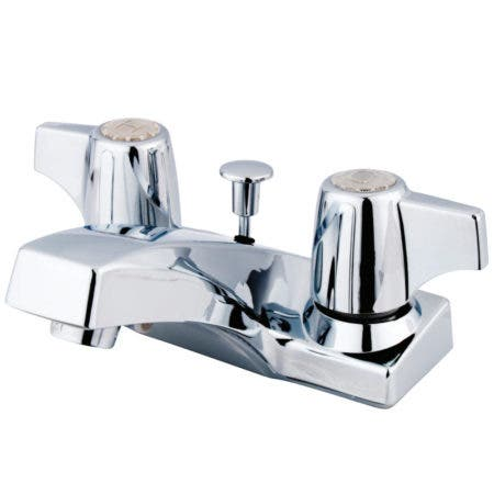 Kingston Brass KB100 4 in. Centerset Bathroom Faucet, Polished Chrome