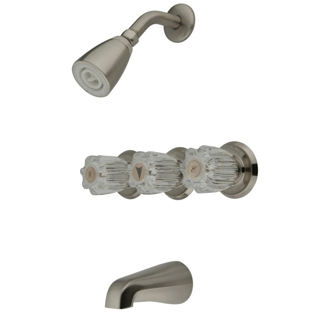Kingston Brass KB138 Tub and Shower Faucet, Brushed Nickel