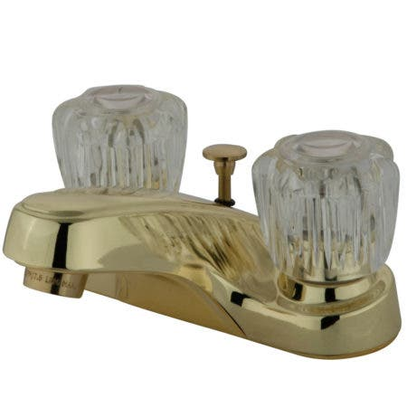 Kingston Brass KB162B 4 in. Centerset Bathroom Faucet, Polished Brass