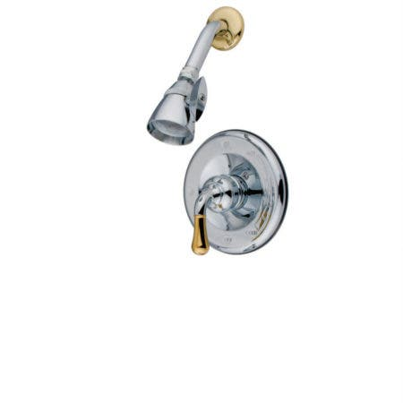 Kingston Brass KB721AXSP Vintage 8 inch center two handle Goose Neck kitchen faucet with side sprayer