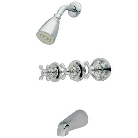 Kingston Brass KB231AX Tub and Shower Faucet, Polished Chrome