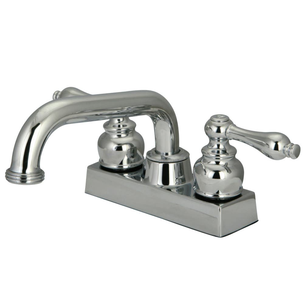Kingston Brass KB2471AL Two-Handle 3-Hole Deck Mounted Laundry Faucet in Polished Chrome