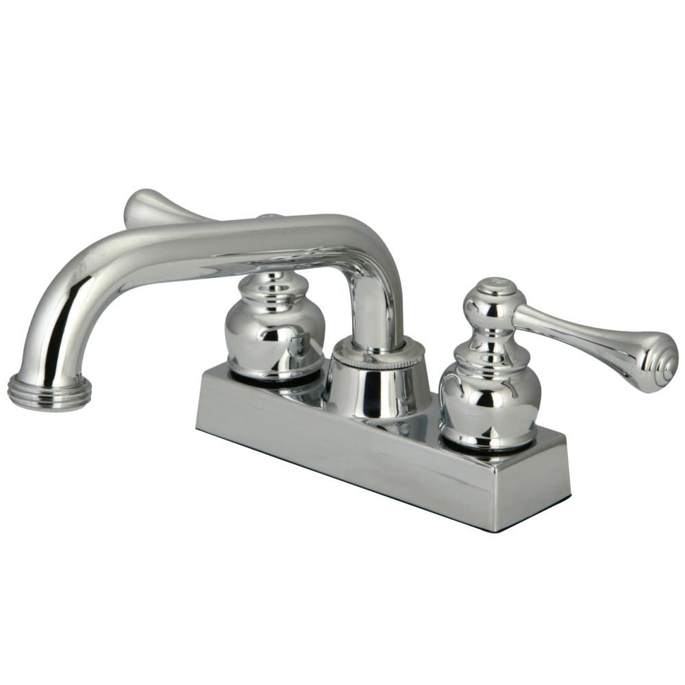 Kingston Brass KB2471BL Two-Handle 3-Hole Deck Mounted Laundry Faucet in Polished Chrome