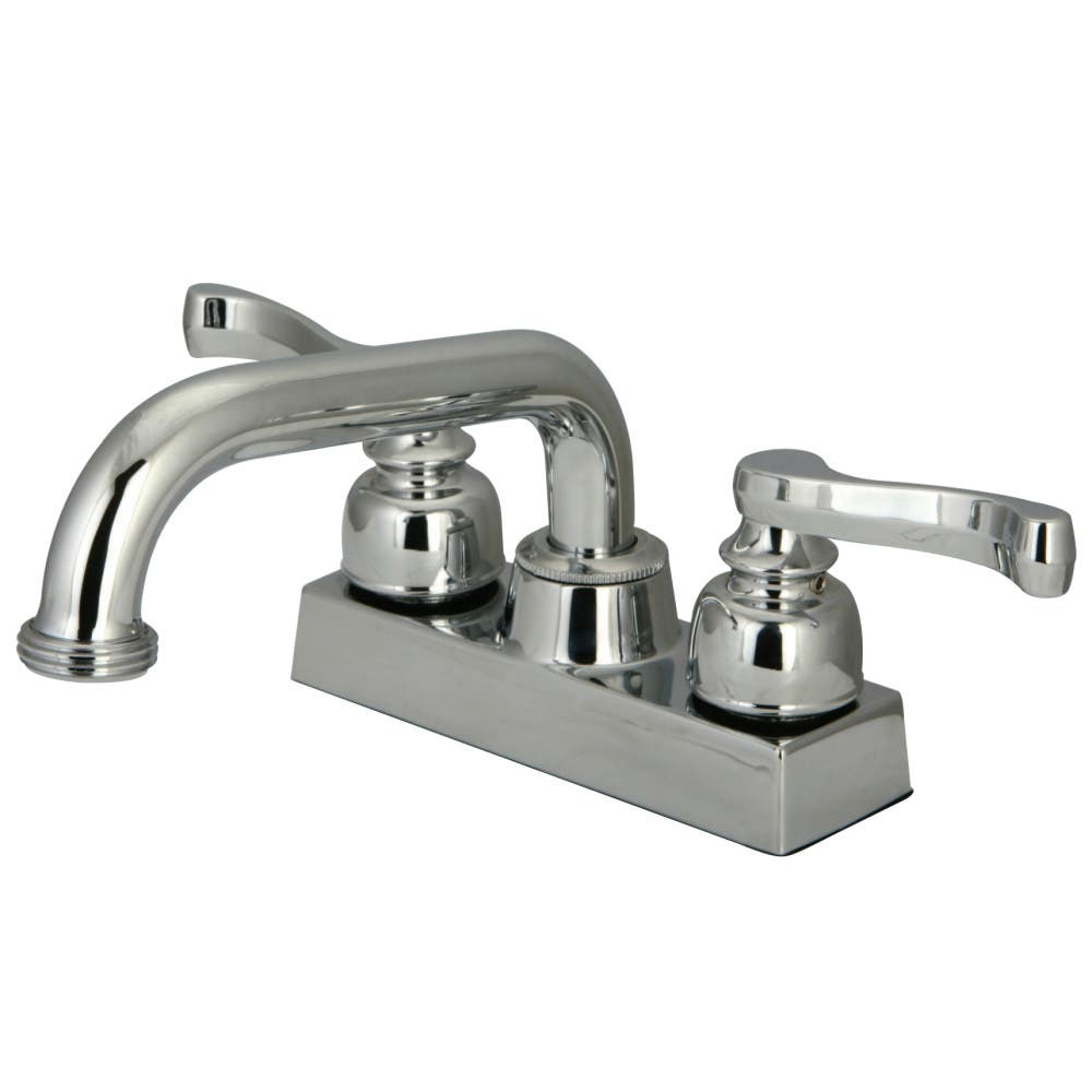 Kingston Brass KB2471FL Two-Handle 3-Hole Deck Mounted Laundry Faucet in Polished Chrome